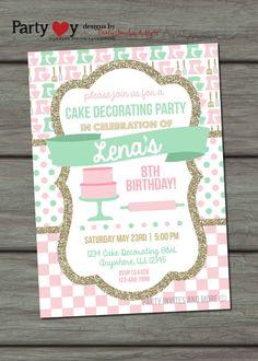 c85204dad2e8f10e7e8950c287ae2d1b baking party lead time cake decorating party invitations,decorating invitation card,Cake Decorating Birthday Party Invitations