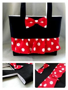 Minnie Mouse Inspired Tote! Making these for different characters for each girl on our Disney trip!!!