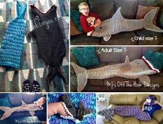 Shark Blanket Crochet Patterns