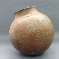 Brooklyn Museum: Arts of Africa: Water Storage Vessel Ceramic Pots, Ceramic Clay, Ceramic Pottery, African Pottery, Native American Artifacts, Pottery Sculpture, Water Storage, Ap Art, African Art