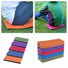 Foldable Folding Outdoor Camping Mat Seat Foam XPE Cushion Portable Waterproof Chair Picnic Mat Pad 5 Colors free shipping