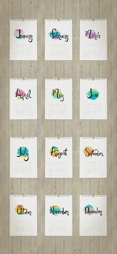 2015 Printable Calendar | Designed by LaRanabcn.com  TodaysCreativeBlog.net