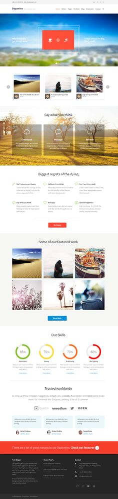 Dopamine is the best business theme for any corporate, agency or business type of website. This theme is highly customizable and comes with ...
