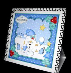 Card Gallery - 8x8 Christmas Skating Snowball Sam Mini Kit 3D Decoupage