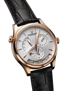 Jaeger-LeCoultre montre Master Geographic 24 fuseaux horaires http://www.vogue.fr/vogue-hommes/montres/diaporama/montres-double-fuseaux-heures-universelles-globe-trotter-anti-jet-lag/20061/image/1043868#!jaeger-lecoultre-montre-master-geographic-24-fuseaux-horaires