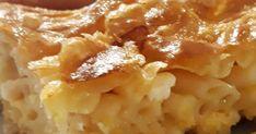 Μακαρονόπιτα για σήμερα !!! Για τη ζύμη 500 γρ Αλεύρι 200 γρ σόδα υγρή ( σέ μπουκάλι αντί νερό) 1/2 κ γ αλάτι Λίγο ξίδι Λίγο λάδι Γέμιση!!!... Apple Pie, Macaroni And Cheese, Pasta, Ethnic Recipes, Desserts, Food, Tailgate Desserts, Mac And Cheese, Deserts