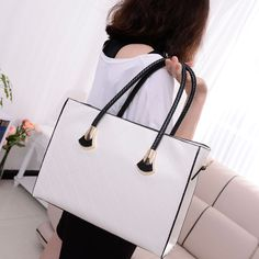 nova 2013 mulheres moda casual grande xadrez preto e branco de couro zíper bolsa bolsas bolsas supernova venda frete grátis