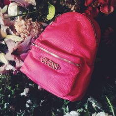 Spring essentials!  #guess #essentials #spring #collection #2016 #new #bag #backpack #pink #fashion #style