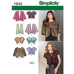 Buy Simplicity Tops Dressmaking Leaflet, 1943 Online at johnlewis.com