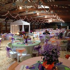 """The entire ceremony and reception was held in the """"The Barn:"""