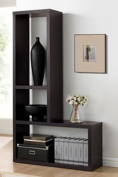 Rupal Brown Modern Display Shelf