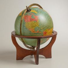 The coolest feature about Cost Plus World Market's Green Globe with Brown Stand is that you can actually hold the whole world in your hands. >> #worldmarket holiday gift giving