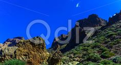Qdiz Stock Photos Mountains on Tenerife Island in Spain,  #blue #Canary #day #green #horizontal #island #landmark #landscape #mountain #nature #panorama #park #rock #sky #Spain #spring #summer #Tenerife #Travel #tree #view