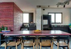 Inspiração ♡ #interiores #design #interiordesign #decor #decoração #decorlovers #archilovers #inspiration #ideias #integrado #sala #living #saladejantar #diningroom #cozinha #kitchen