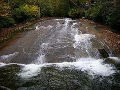 Natures Water Slide at North Carolina