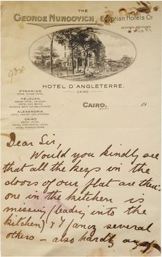 Wwii march 13th 1944 departing soldier love letter to war bride hotel dangleterre cairo fandeluxe Choice Image