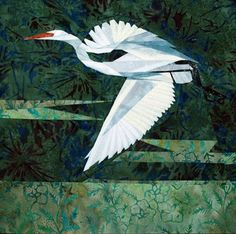 silver linings quilting pattern wee snowy egret
