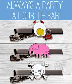 Themed Tie Bars...the latest from SOXFORDS!!!   just THE BEST