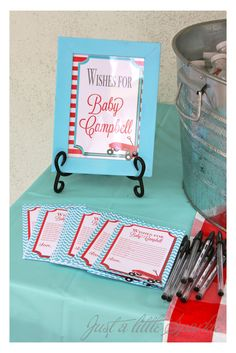 Just A Little Sparkle: Vintage Red Wagon Baby Shower