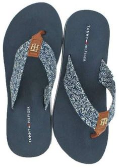 28ed16134db3 Tommy Hilfiger Assorted Patterns Women s EVA Flip Flop Sandals. Sandaler  Outfit