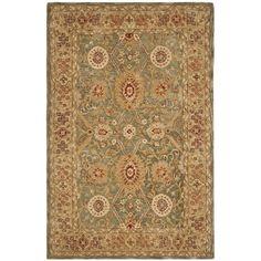 Safavieh Anatolia Oriental Handmade Tufted Wool Sage/Brown/Red Area Rug | Perigold Wool Area Rugs, Beige Area Rugs, Wool Rug, Traditional Area Rugs, Carpet Runner, Throw Rugs, Rug Making, Runes, Rug Size