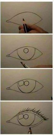 Adım Adım Göz Çizimi 1