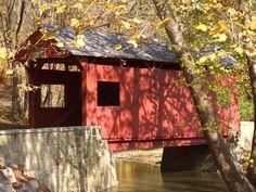 Ebenezer Covered Bridge at Mingo Creek County Park, Nottingham Township, Pennsylvania