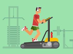 Buy Athlete Running On a Treadmill by on GraphicRiver. Athlete running on a treadmill concept flat vetor illustration. 2d Character Animation, Animated Icons, Animated Gif, Man Vector, Vector Icons, Flash Design, Running Man, Treadmill Running, Running Shoes