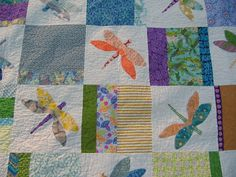 Dragonfly quilt by sleighd, via Flickr