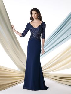 Floor-Length Sheath/Column Square Chiffon Beading Dresses