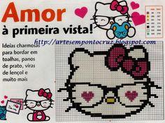 Hello Kitty Nerd Cross Stitch Pattern
