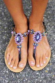 Lavender, purple sandals