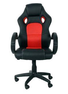 #officechair #office #chair #fauxleather #fauxleatherchair #blackandredchair