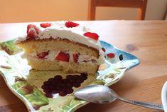 Strawberry Fields Strawberry Cream Cake   TheBestDessertRecipes.com