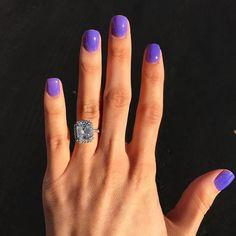 Sns nails - ylianna sns nails, nails at home, dip powder, latest nail art. Dip Nail Colors, Sns Nails Colors, Purple Nails, Get Nails, Hair And Nails, Nail Ring, Dipped Nails, Minimalist Nails, Dream Nails