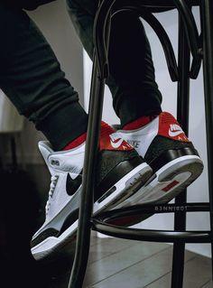 Nike Air Jordan 3 NRG Tinker - 2018 (by b3nni801) Sneakers Looks, Sneakers Mode, Best Sneakers, Casual Sneakers, Nike Sneakers, Skater Outfits, Nike Outfits, Air Jordan 3, Air Jordan Shoes
