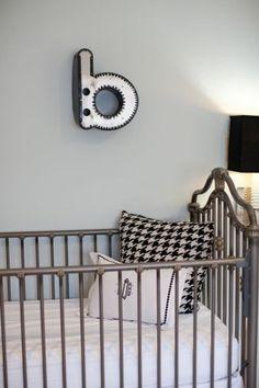Houndstooth, black & white nursery