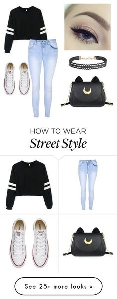 """""""Street style"""" by caitlin-fiust on Polyvore featuring Converse, Glamorous, Usagi and Humble Chic"""