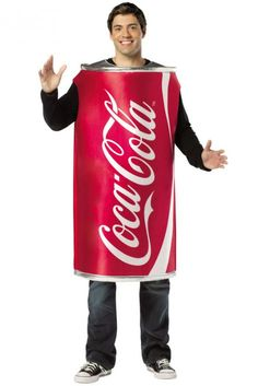 Coca Cola Coke Can Adult Costume
