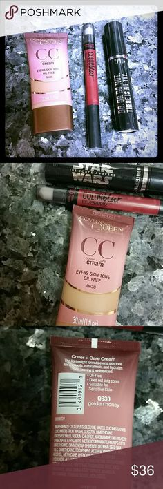 *Bogo 11/26 *New 3pc beauty bundle Covergirl queen collection Q630 Golden honey foundation  Maybelline #35 plum please lipcolor  Covergirl or revlon Mascara black or very black or blackest black  *B2g1 50% -Add to any bundle over $80 for just $20!!!!  Makeup beauty bundle sale  Retail $37-42+ tax covergirl Makeup Foundation