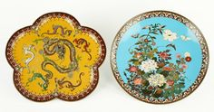 Two Japanese Cloisonne Chargers. : Lot 1703521