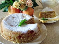Apple cake Ingredients: - 1 cup flour - 1 cup semolina - cups sugar - 1 tsp soda Preparation: 4 All the dry ingredients are mixed Russian Dishes, Russian Recipes, Russian Desserts, Homemade Pastries, Apple Cake, Cake Ingredients, Unique Recipes, Different Recipes, Cake Recipes