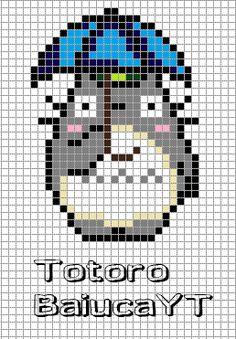 Totoro Hamma Beads (BaiucaYT) by BaiucaYT