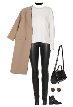 """""""Unbenannt #505"""" by llsbo ❤ liked on Polyvore featuring The Row, Yves Saint Laurent, Topshop, MANGO, Monki and Givenchy"""