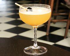 Westport Cafè and Bar - The Charlie Sour is another popular seasonal cocktail mixed with Earl Grey infused Four Roses Bourbon, St. Germain elderflower liqueur, orange oleo saccharum (orange oil), and lemon.