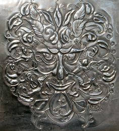 Green Man Pewter plaque. by ARCHIVES on Etsy, £220.00