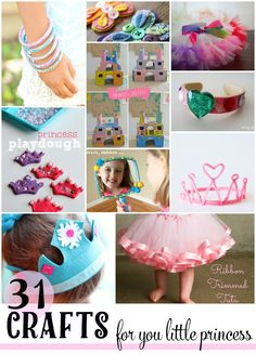 31 crafts for your little princess. click through to see the how dazzling list! My Little Girl, My Baby Girl, Little Princess, Crafts For Girls, Diy For Girls, Little Girl Crafts, Summer Crafts, Fun Crafts, Princess Crafts