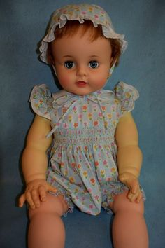 """Vintage Ideal 28"""" Suzy Playpal Doll - Faded Arms"""
