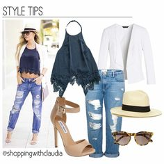@carolinalindo Denim summer style! Find this look in:  Top: stylelinkmiami.com Jeans: Zara.com Blazer: stylelinkmiami.com Heels: stevemadden.com Hat: jcrew.com #shoppingwithclaudia #claudiazuleta #fashionstylist #shopping #personalshopping #celebritystyle #gojane #streetstyle #outfit #look #styletips  #styletipsbyclaudia #fashion #fashionable #lookoftheday #trends #outfit #clothes #stylelinkmiami #stevemadden #zara