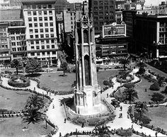 A HISTORY OF UNION SQUARE - FoundSF San Francisco Tours, Union Square, Knights Templar, Times Square, Cathedral, History, Travel, Knights Of Templar, Historia